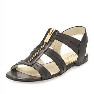 Black Michael Kors Berkley flat Sandal size 7